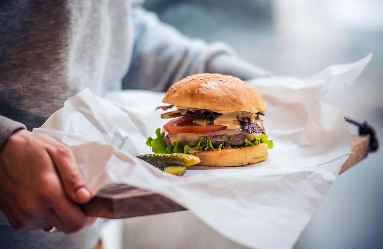 Burger served