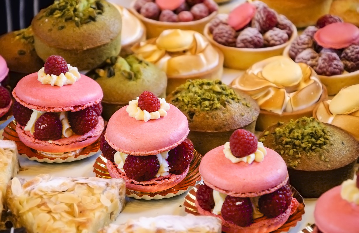 French pastries on display - Los Angeles, California