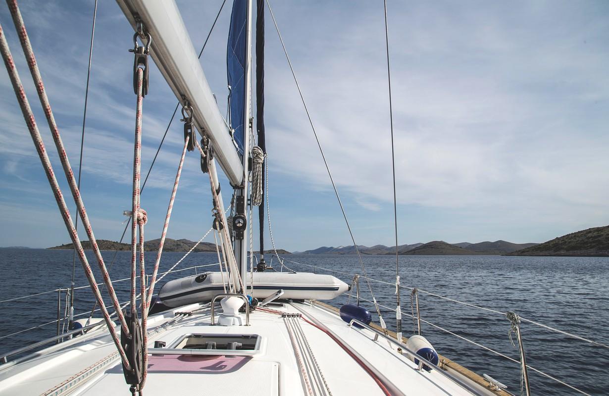 Sailing boat at the sea