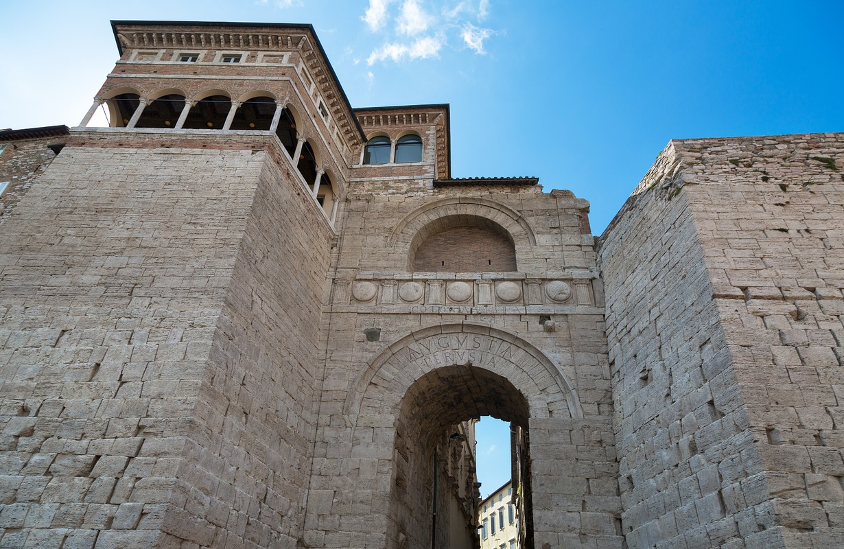 Arch of Etruscans (Augustus Arch) in Perugia, Umbria