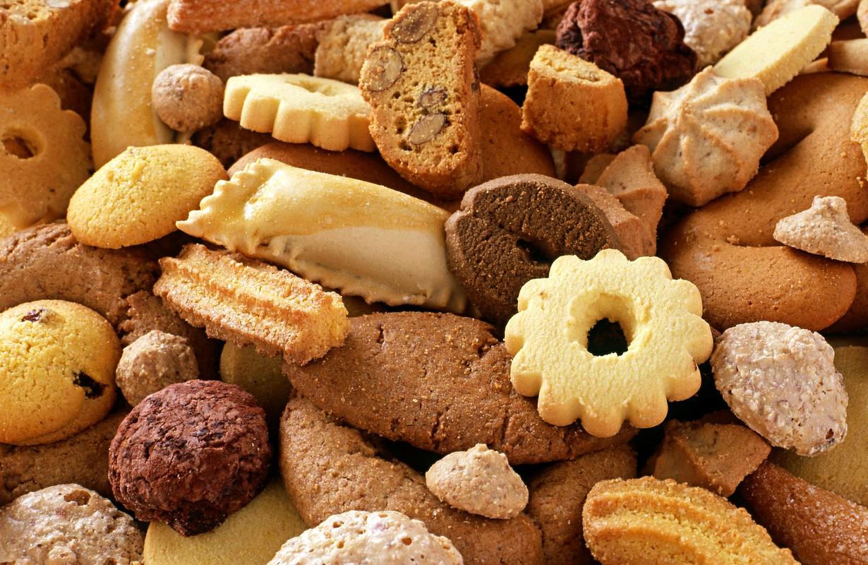 Crunchy fresh biscuits