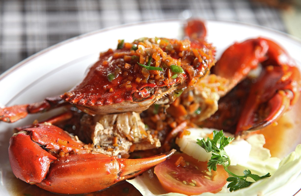 Crab cooked