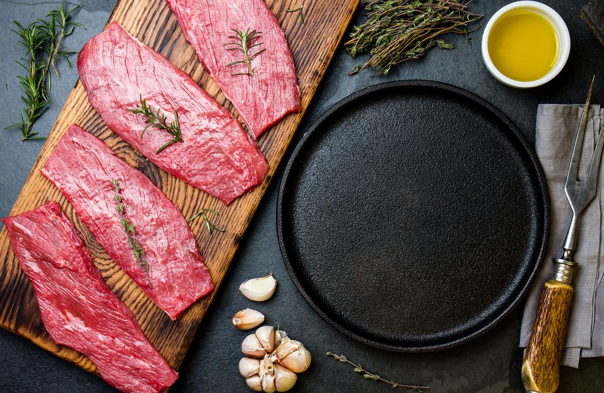 Fresh raw meat beef steaks