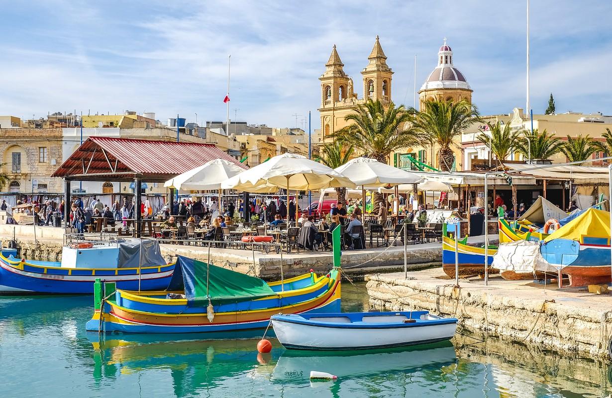 Malta Marsaxlokk town
