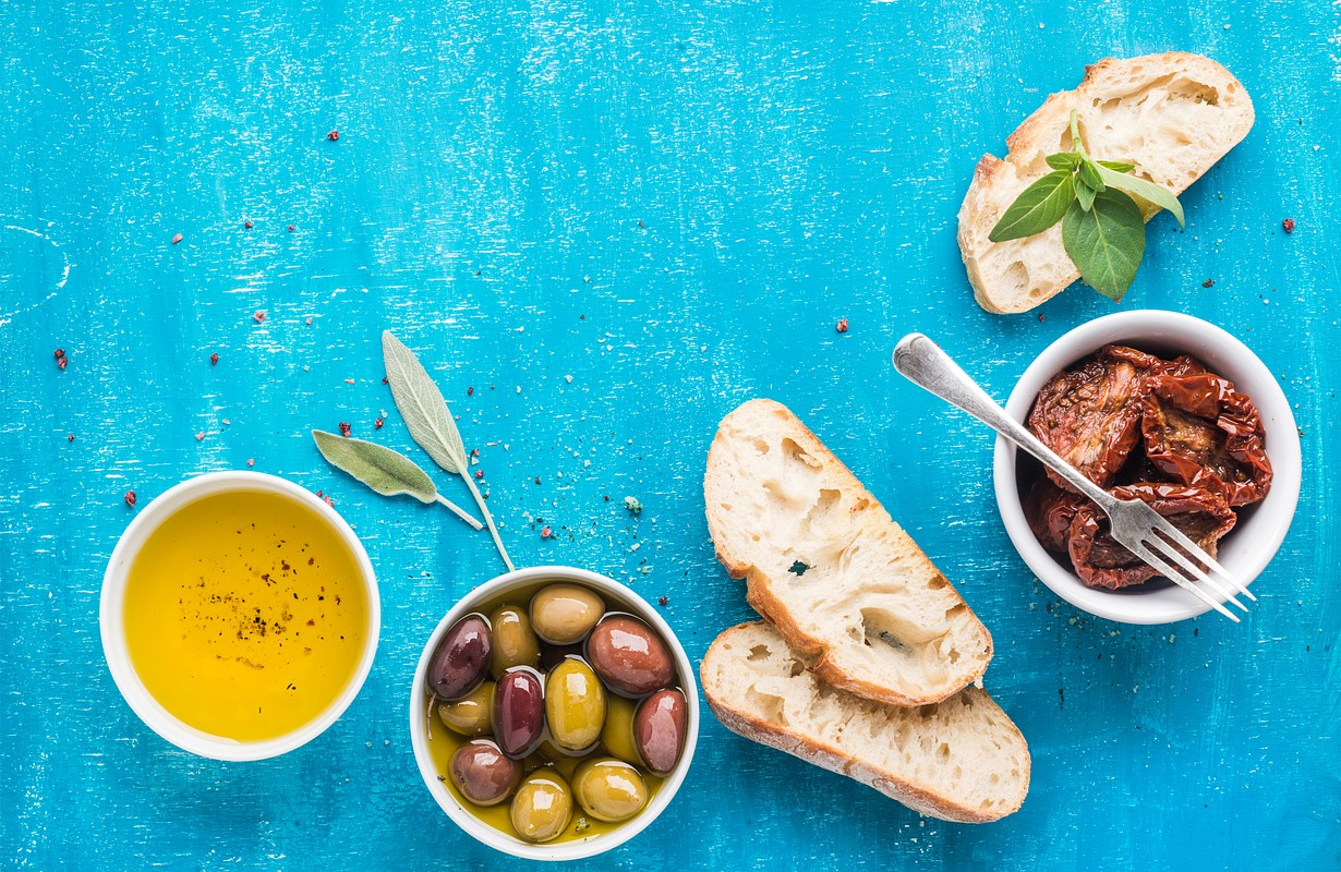 Mediterranean snacks set.
