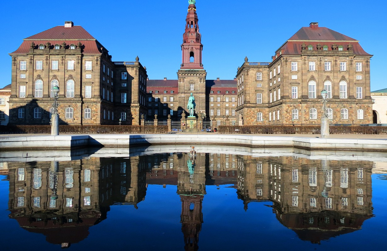 Christianborg palace in Copenhagen