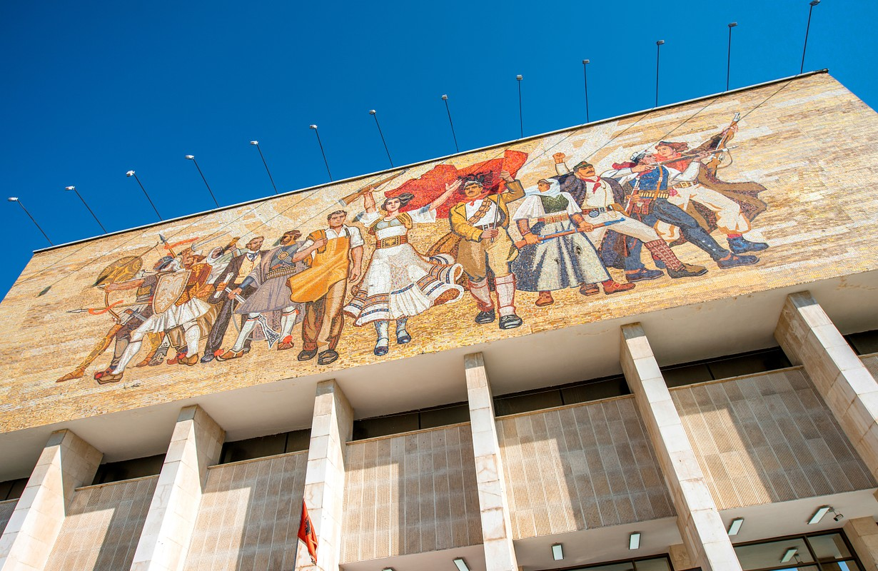 National museum in Tirana center in Albania