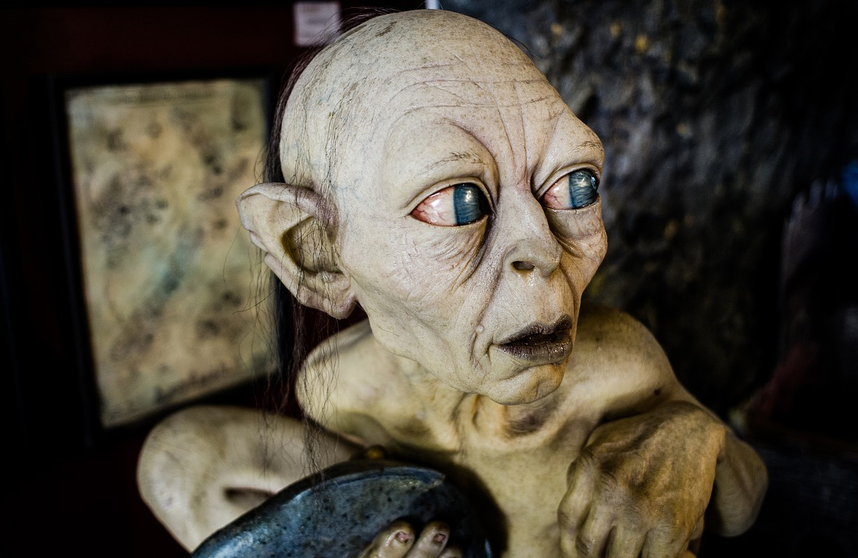 Detailed reproduction of Gollum from Lord of the Rings