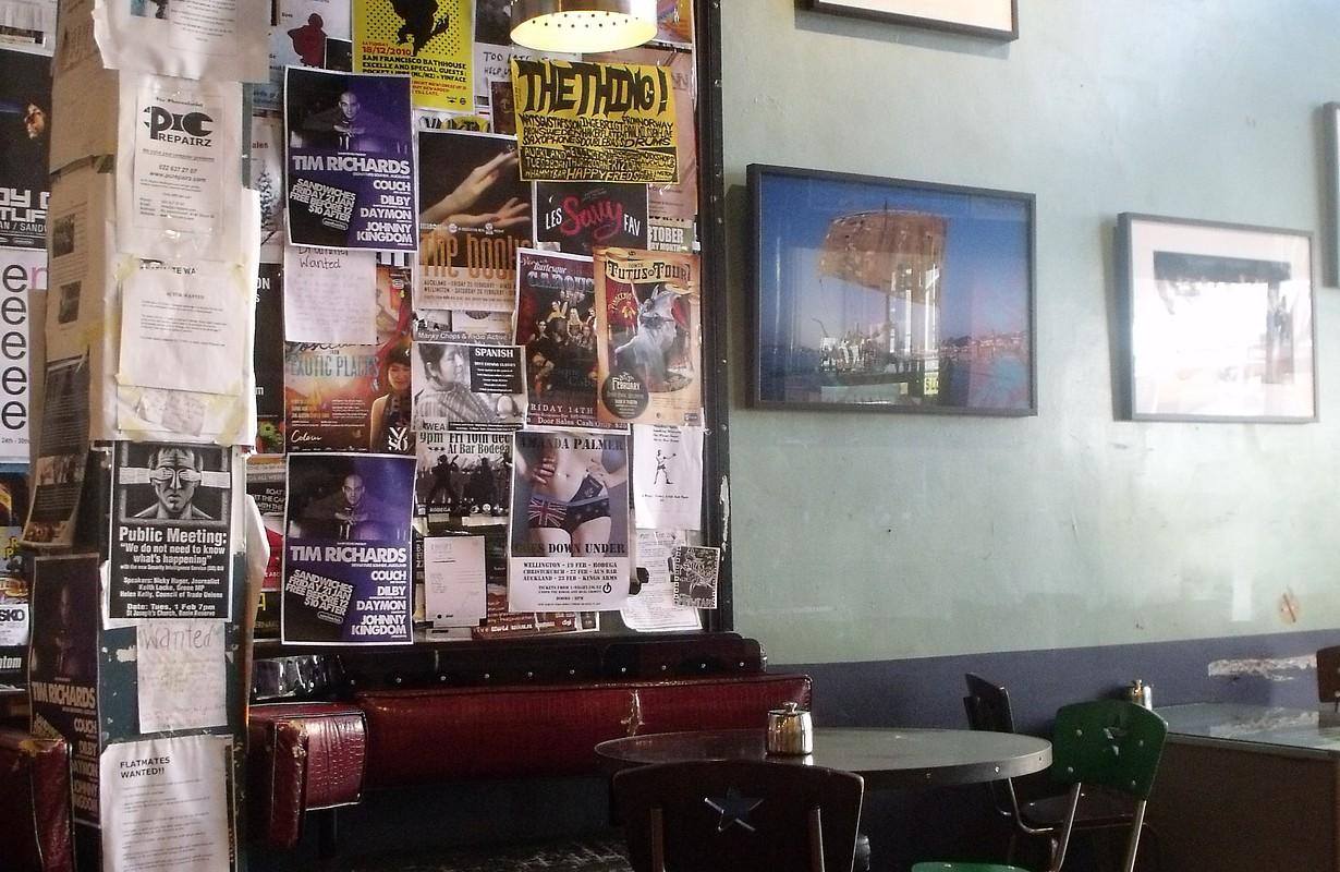 Inside the Midnight Espresso cafe in Wellington