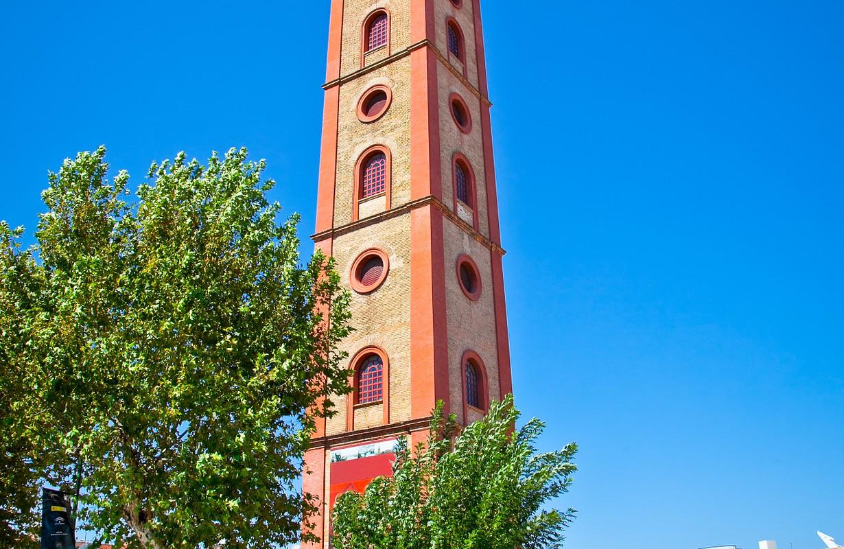 Torre de los Perdigones. Antique tower in Seville. Andalusia, Spain.