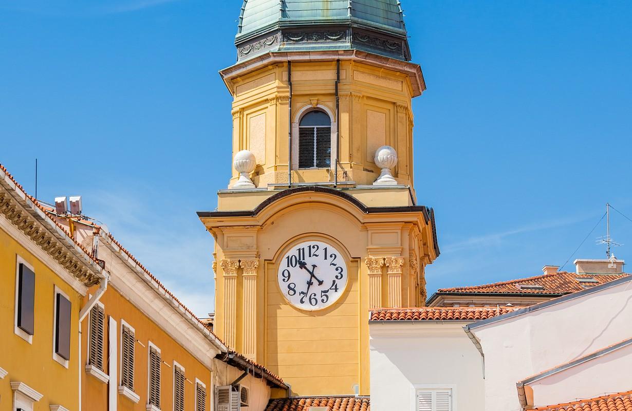Clock tower in Rijeka, Croatia