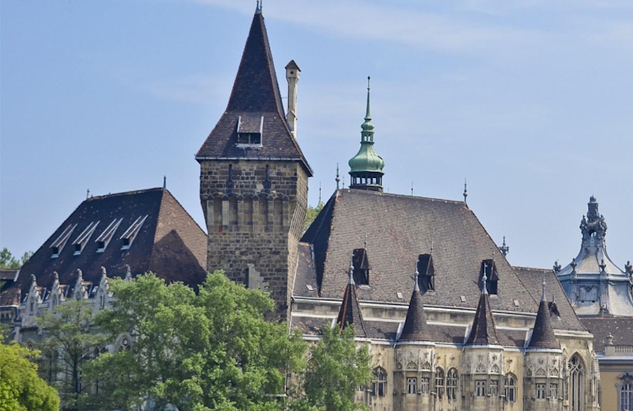 Vajdahunyad Castle in the Budapest City Park