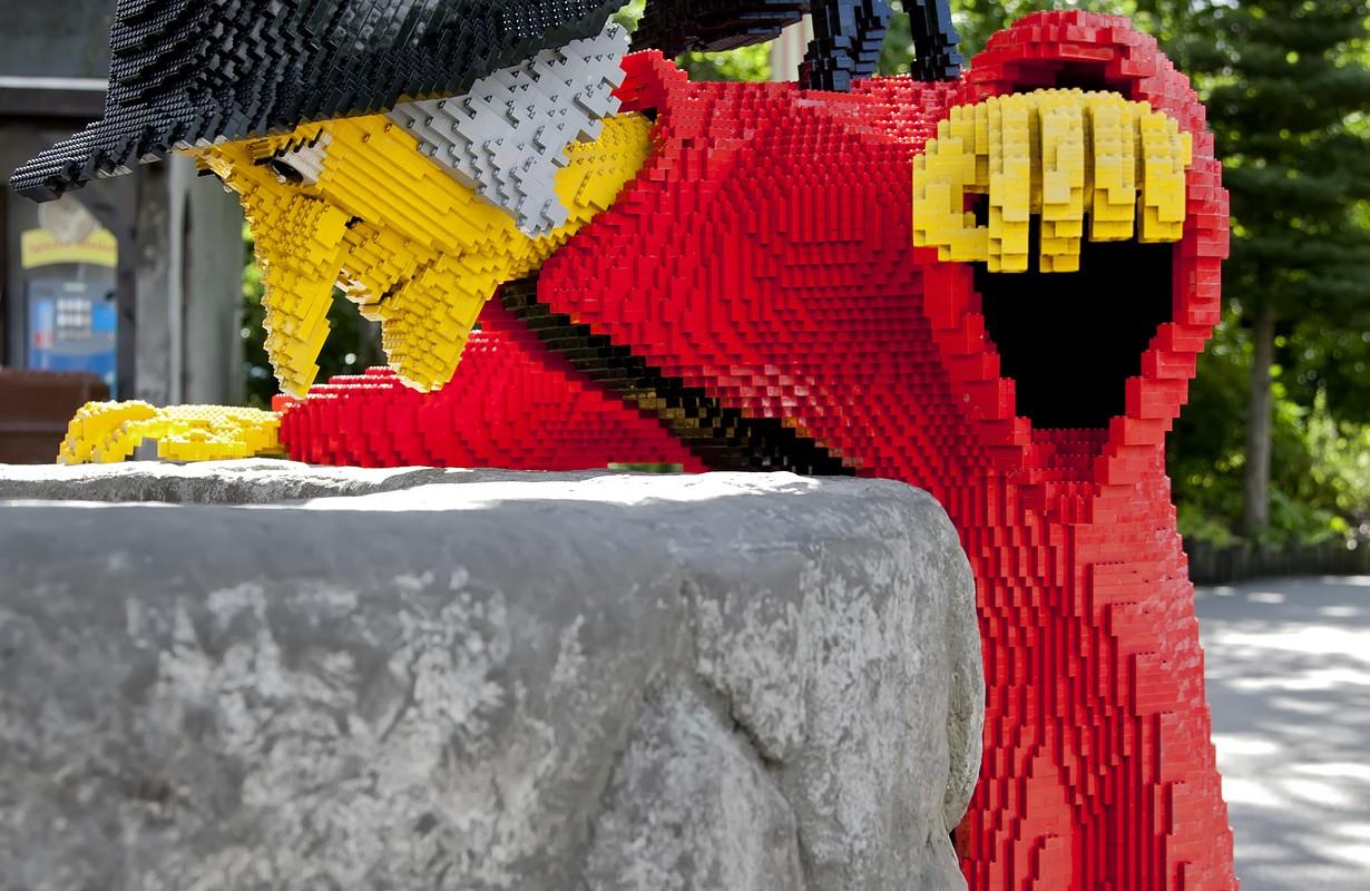 Witch made of Lego bricks in Legoland