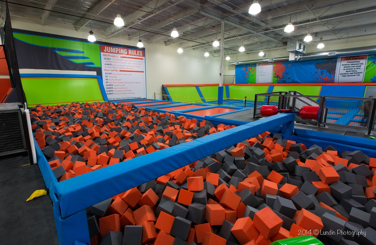 Foam pit at Rush Air Sports