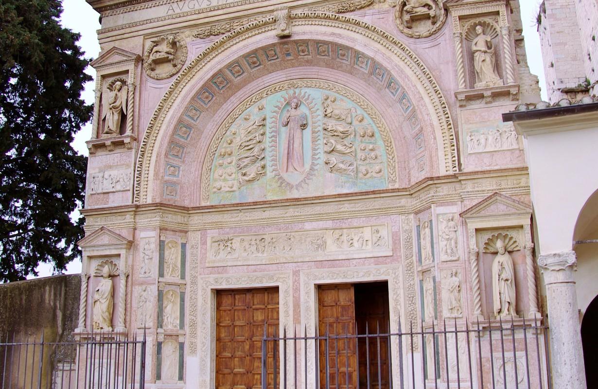 The Oratory of san Bernardino in Perugia in Tuscany in Italy