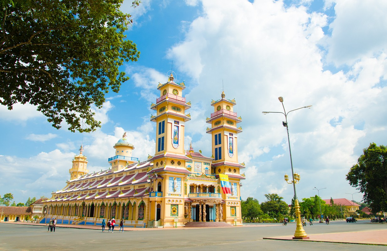 Cao Dai Temple in Tay Ninh province, near ho chi minh city, Vietnam