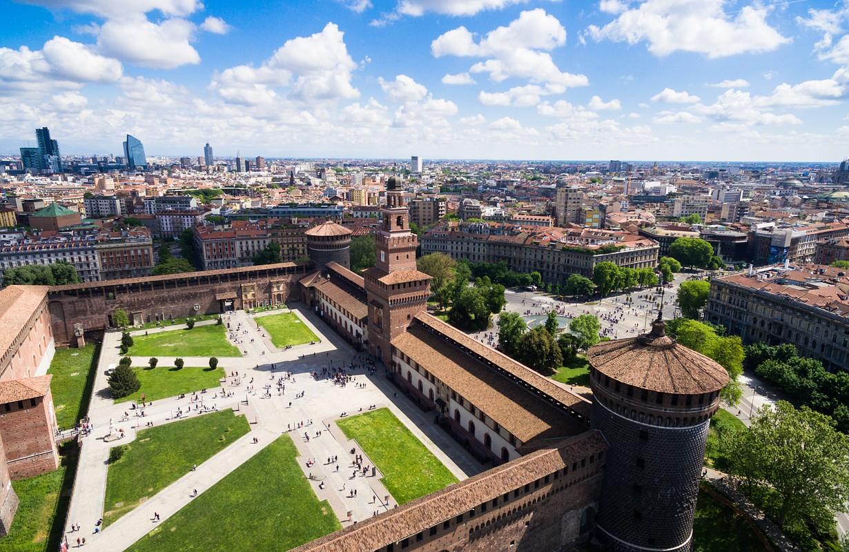 View of Sforza Castle