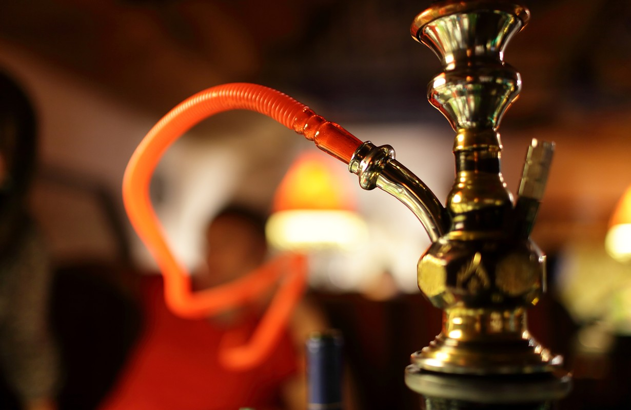 Part of a hookah in the arabic restaurant