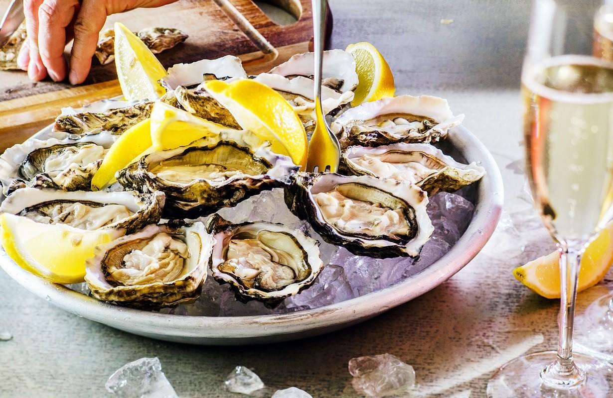 Plate of opened oysters - Atlanta, Georgia