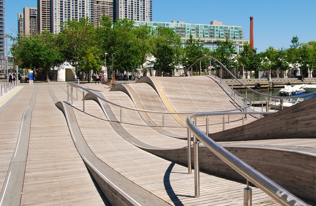 Downtown Toronto Waterfront in Canada