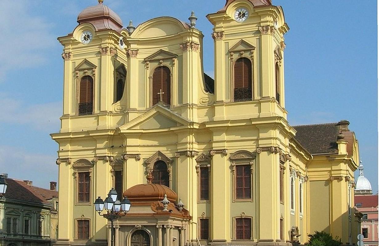 Roman Catholic Cathedral (The Dome) on Piaţa Unirii in Timişoara (Romania)