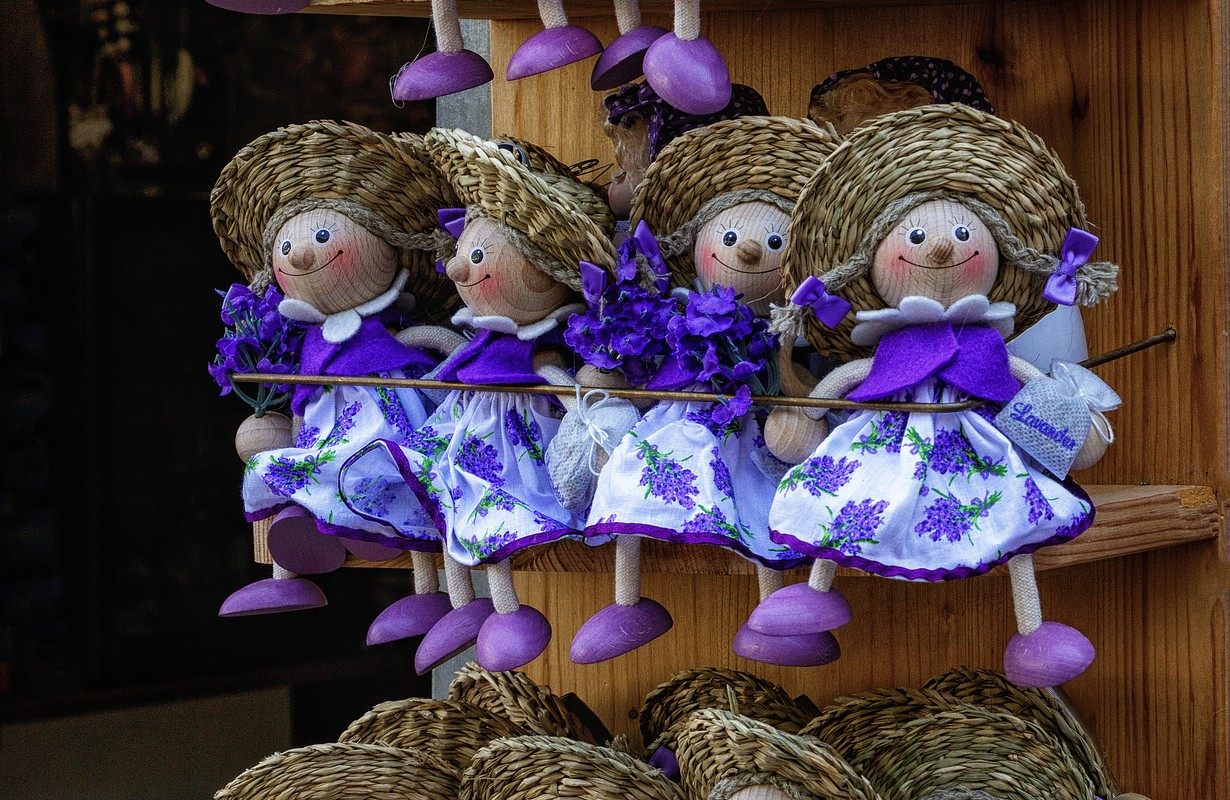 raditional dolls in Purpe dress with Lavender Fragrance