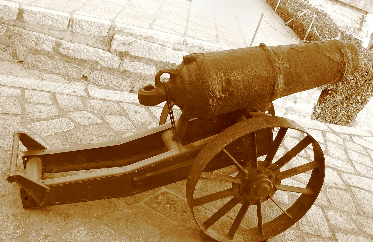 Ancient cannon in Hulishan Fort Qin Dynasty; Xiamen, China