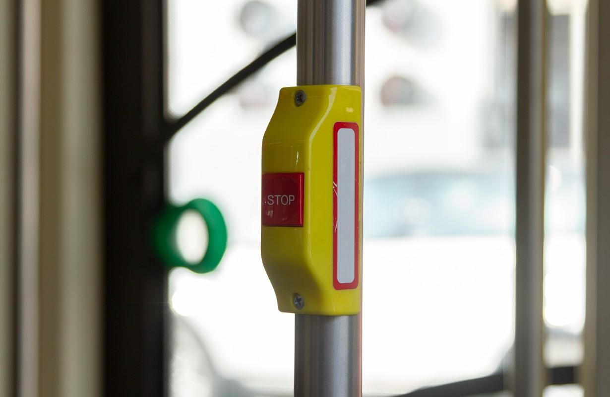 handle of trolleybus england