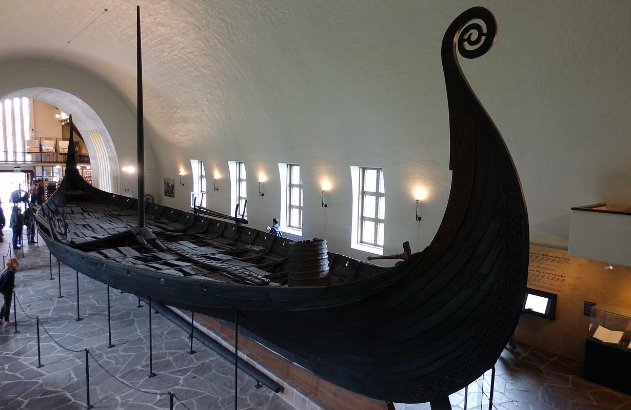The Oseberg Ship at the Viking Ship Museum