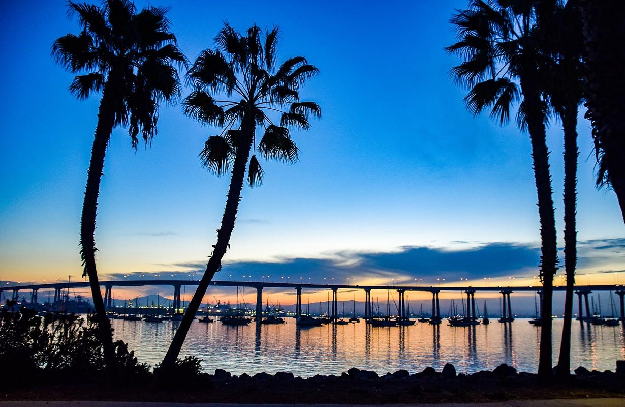 The San Diego Bay Bridge at Sunrise - Southern California, USA