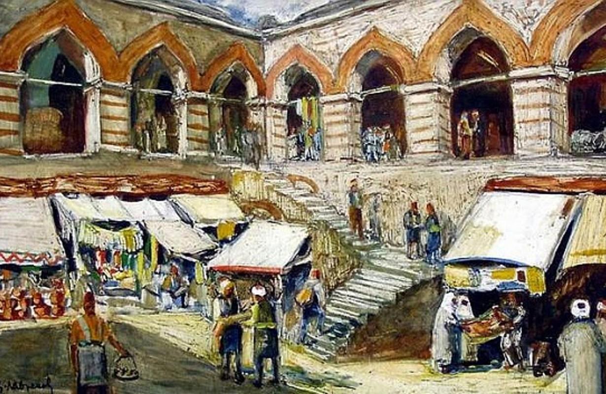 Kurshum Han (on the territory of nowaday Kapana District) painted by Tsanko Lavrenov