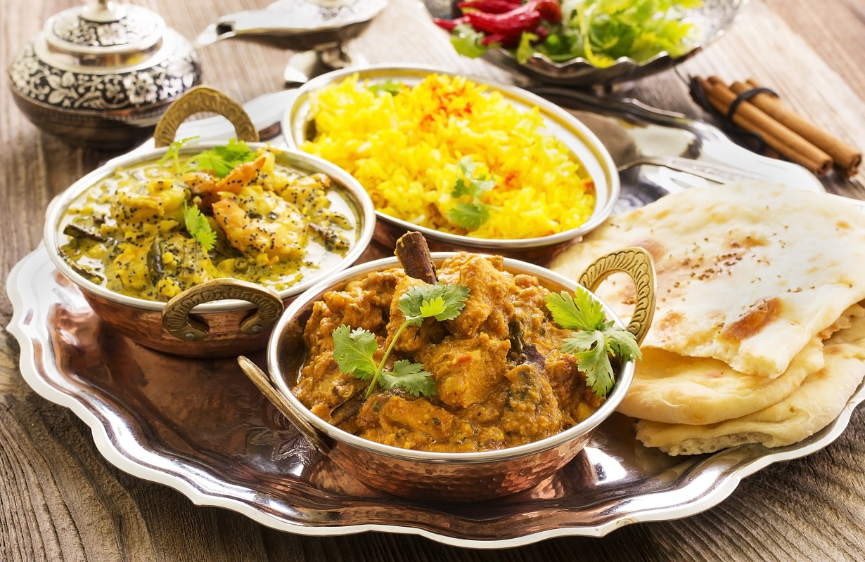 Indian dishes from an Indian restaurant - Los Angeles, California