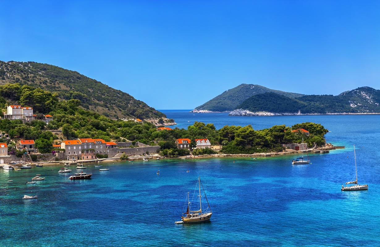 Croatia. South Dalmatia - Elaphiti Island. The island of Kolocep (Kalamota, Calamotta) situated near Dubrovnik city. Donje Celo settlement
