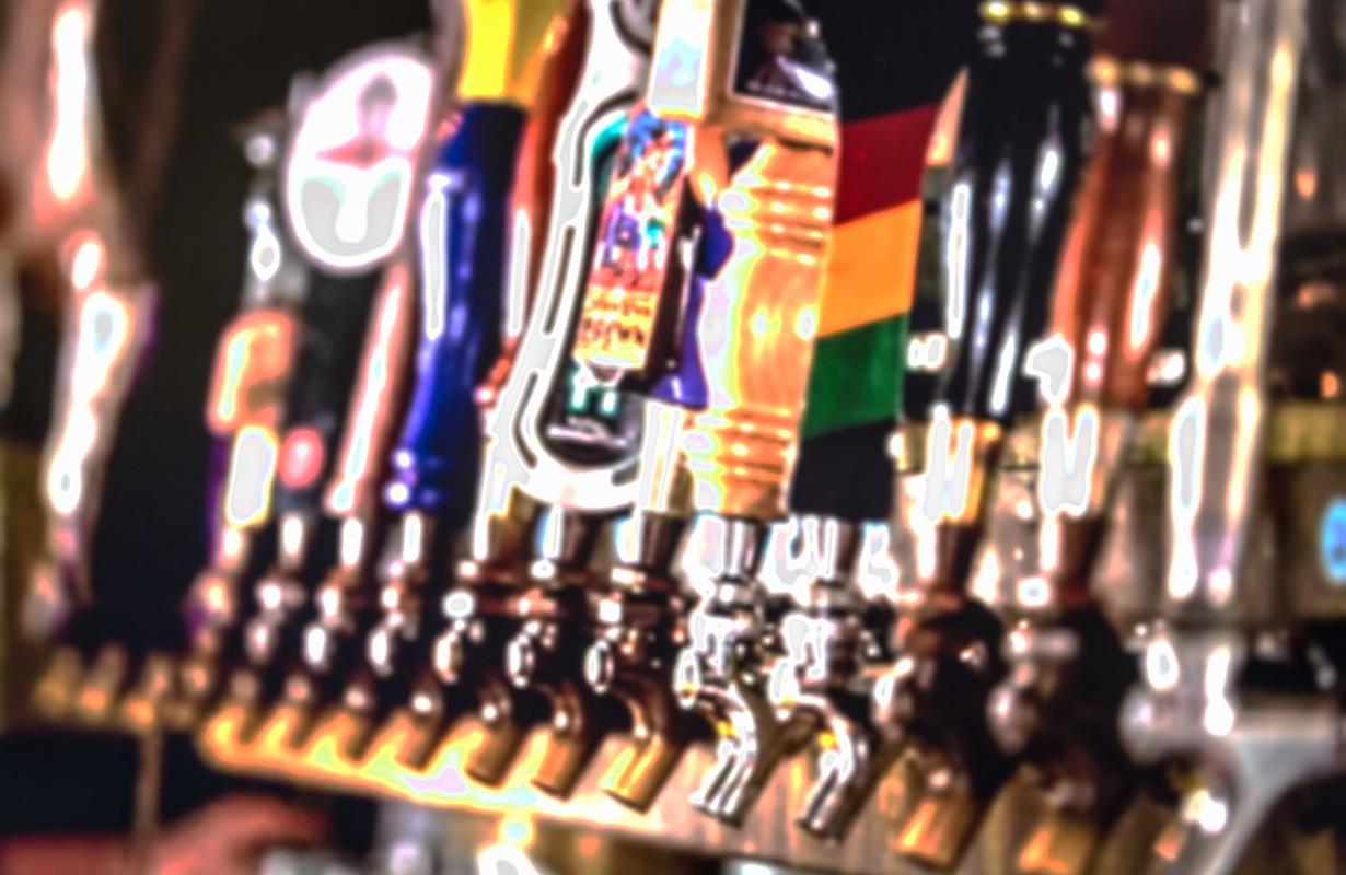Cocktails at bar