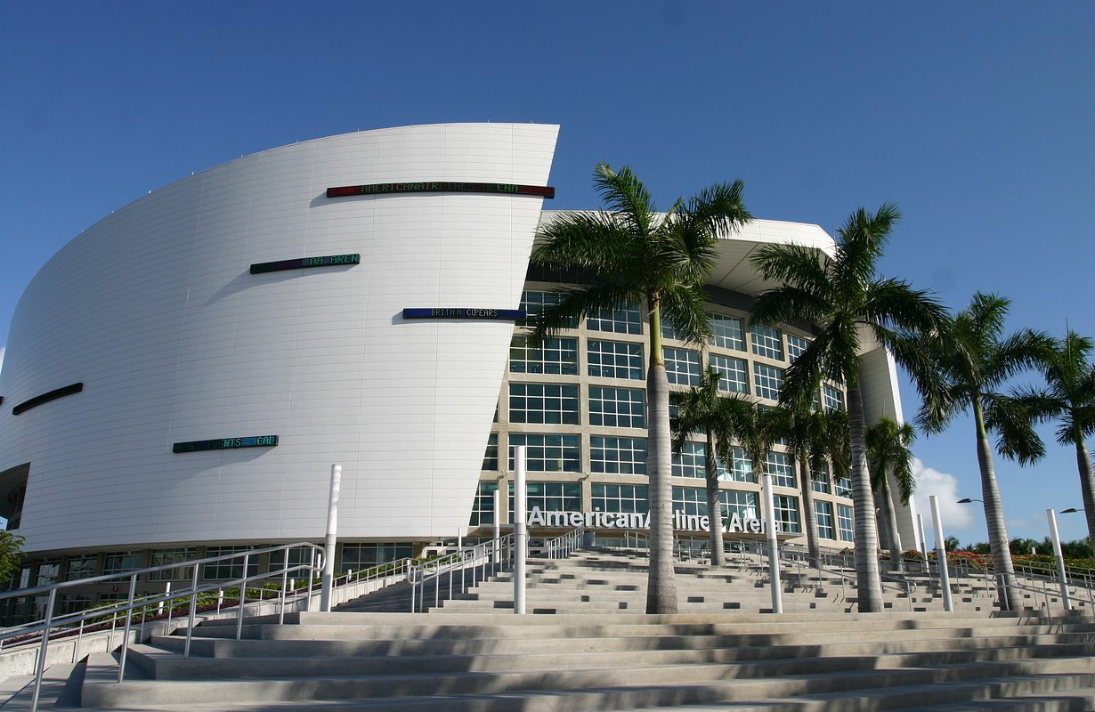 American Airlines arena from Miami