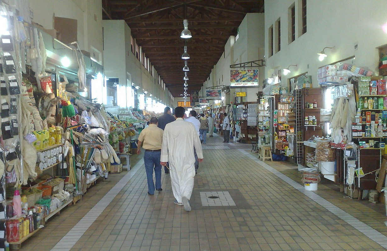 Al-mubarakeya market in Kuwait city. one of the oldest markets in Kuwait city.