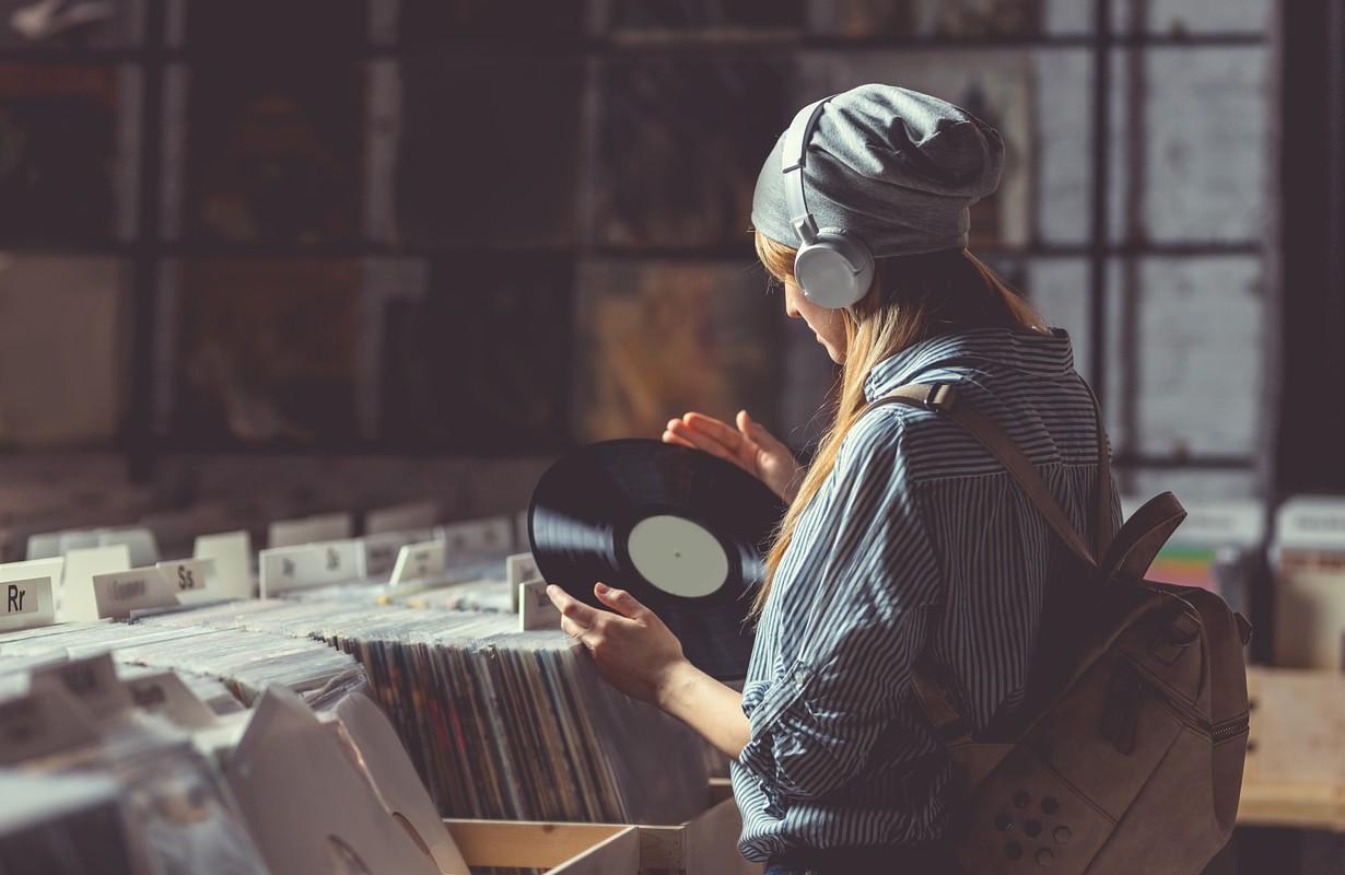 Young woman at a record store - Atlanta, Georgia