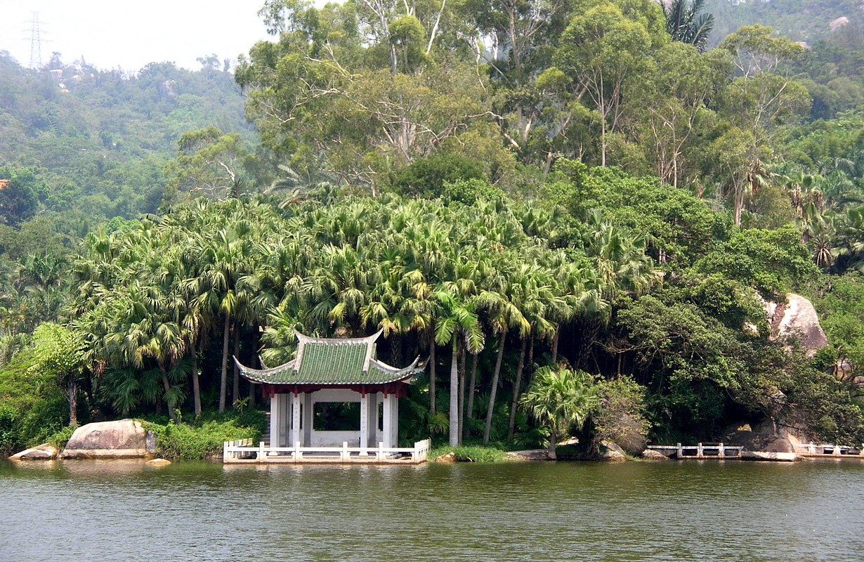 At a botanical garden in Xiamen, China