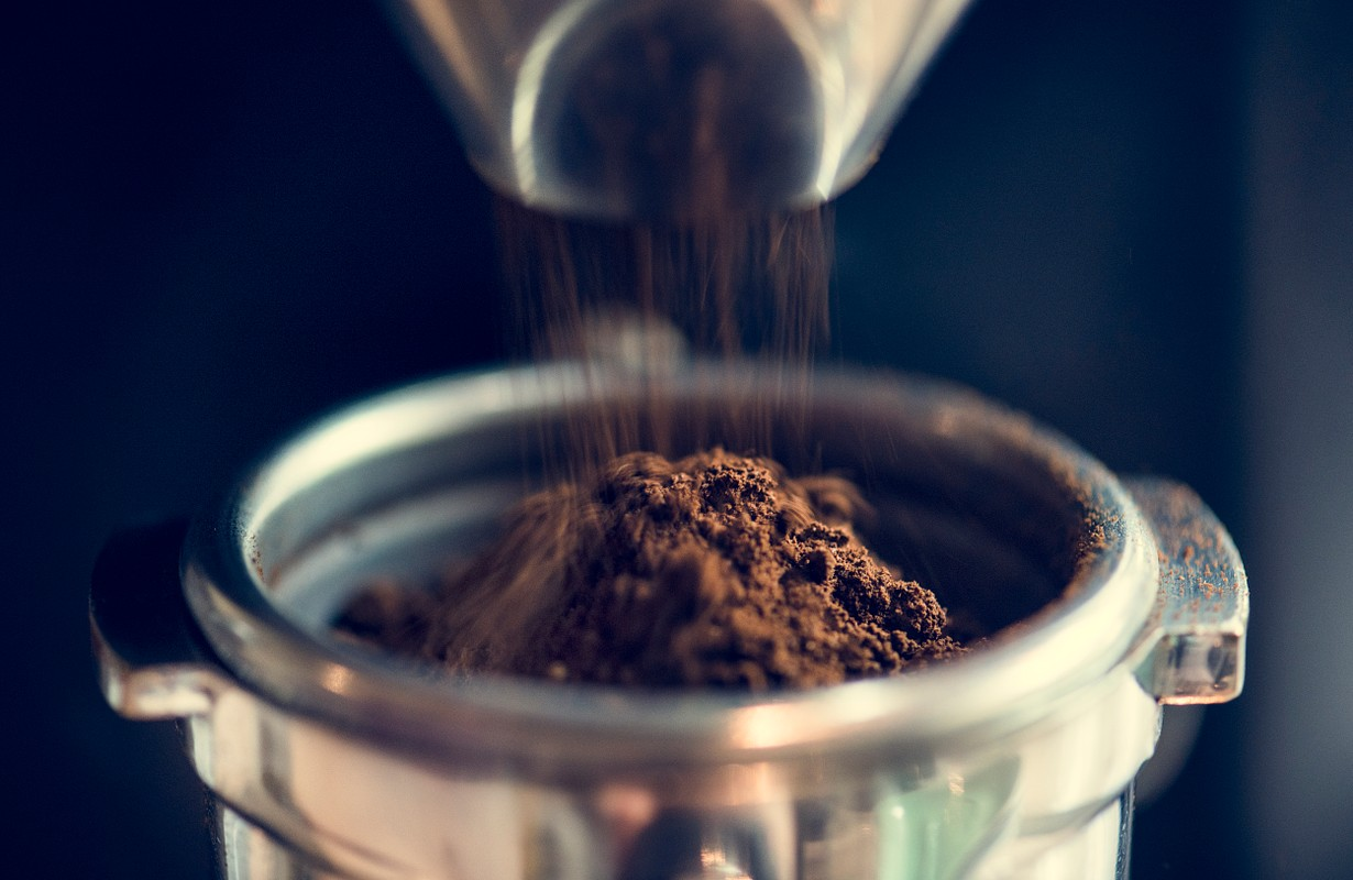 Closeup of fresh grinding coffee - Image