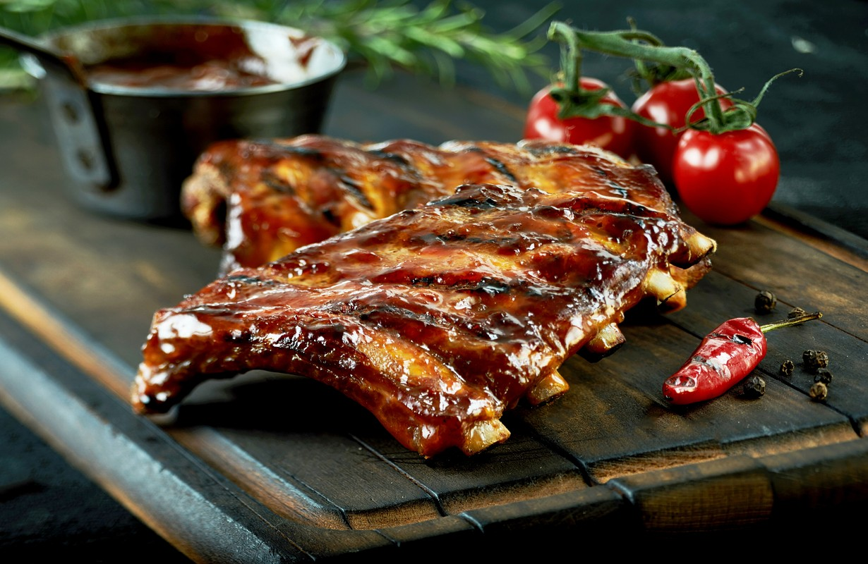 Spicy hot grilled spare ribs - San Francisco, California