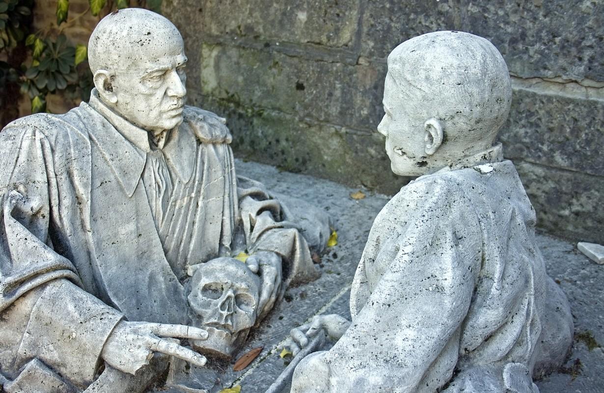 statue in bologna's certosa - italy