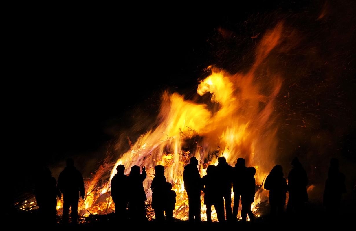 Huge bonfire