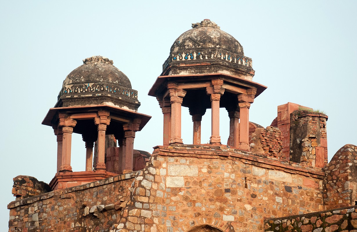 On the ruins of the Purana Qila or Old Fort New Delhi, India, South East Asia