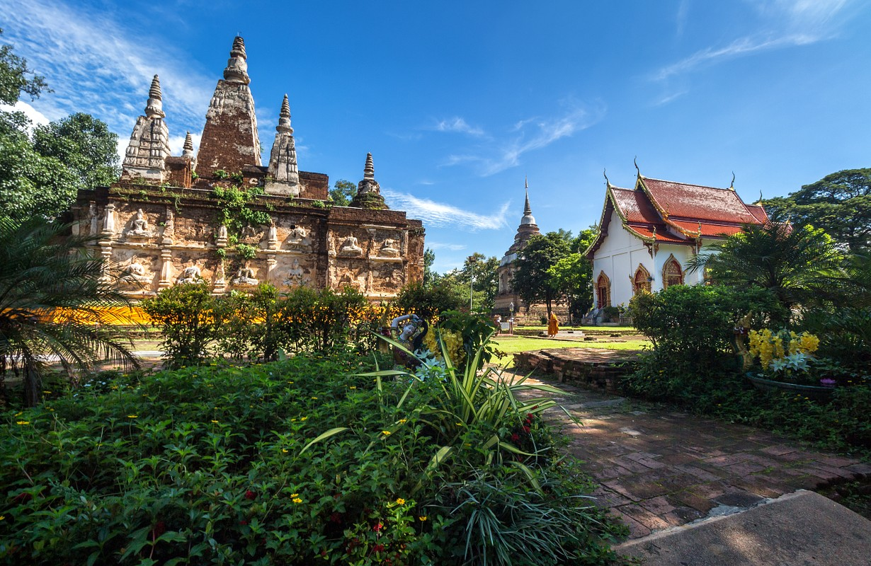 Wat Chet Yot, seven pagoda temple A tourist attraction in Chiang Mai, Thailand