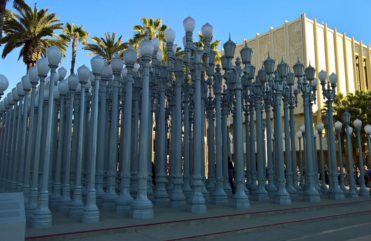 Public Art Urban Light at LACMA