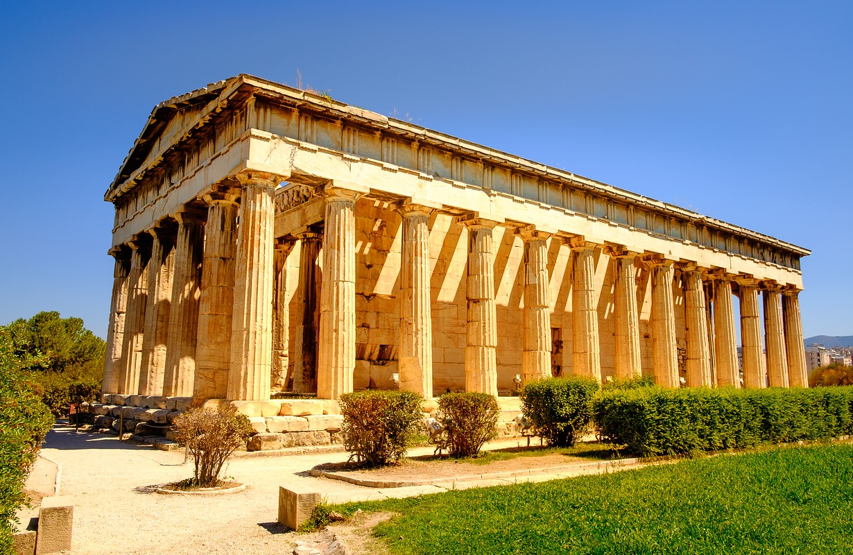 Scenic view of Temple of Hephaestus in Athens