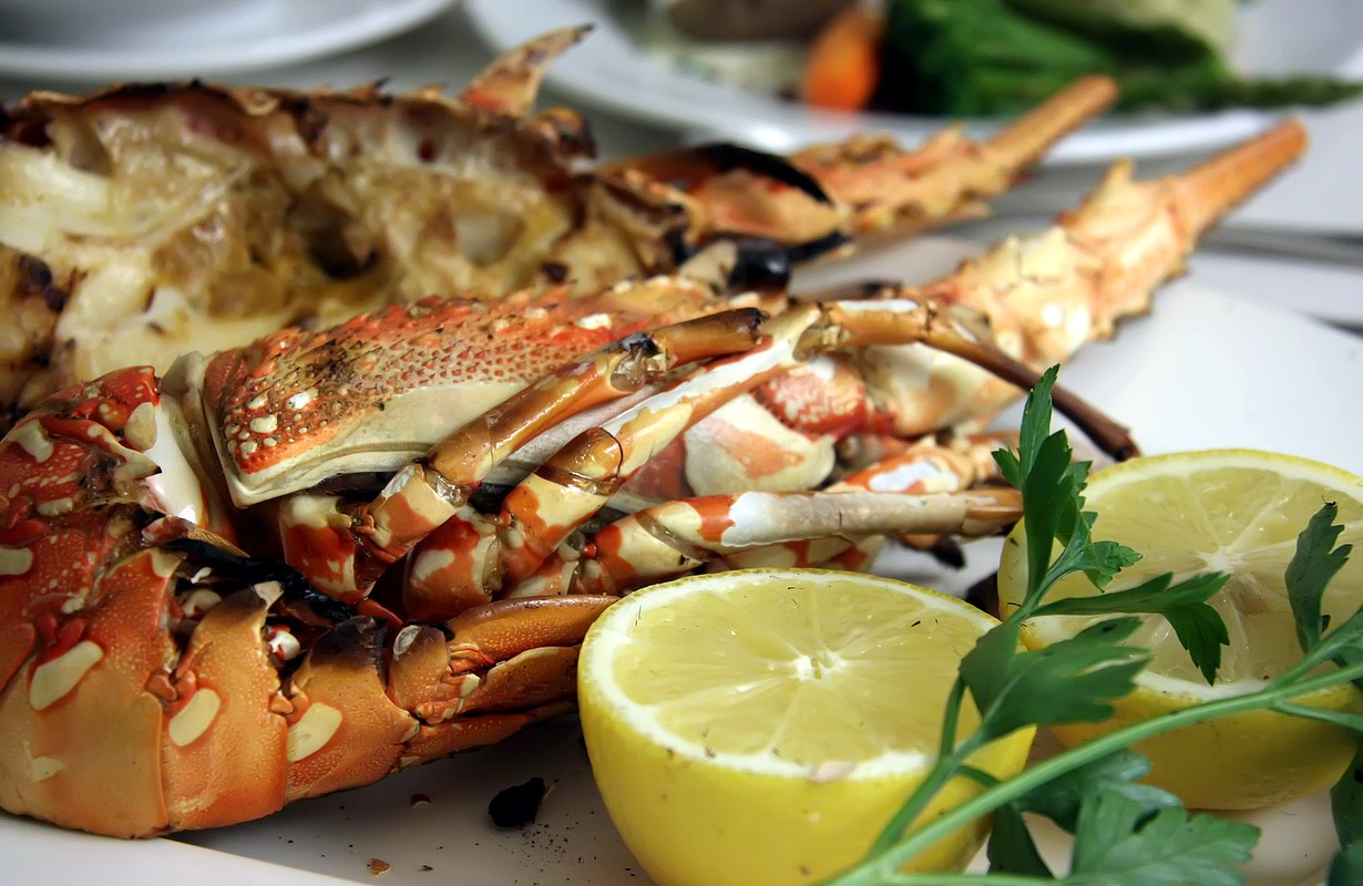 Grilled pacific lobster