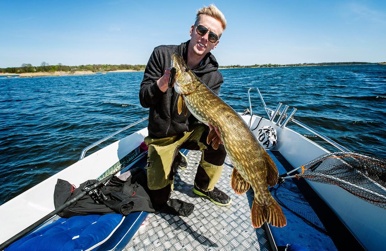 Fishing pike in Karlskrona