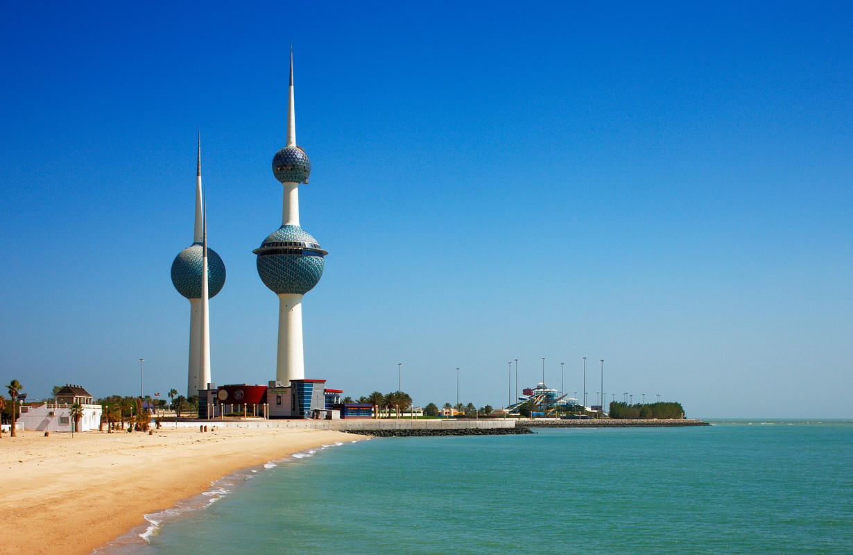 The main tower of Kuwait Towers