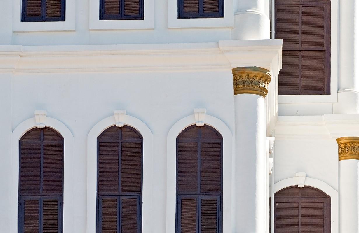 Saudi Arabia, Taif, detail of the Shubra Palace, traditional King's residence